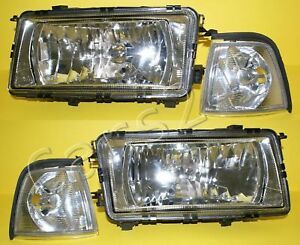 AUDI 80 B3 1986-1991 Headlights + Corner Lights PAIR