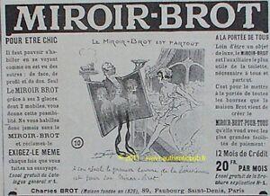Publicite miroir brot parisienne maurice neumont 1914 ebay for Miroir brot paris