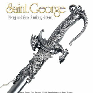 Saint-George-Dragon-Saber-Fantasy-Medieval-Knight-Sword