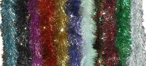 6PLY-X-2-24M-16cm-DIAMETER-LUXURY-TINSEL-GARLAND-CHRISTMAS-DECORATION