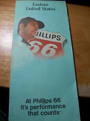 Nice Vintage 1972 Phillips 66 EASTERN US Highway Map