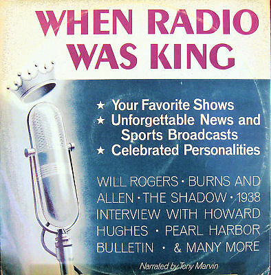 When Radio Was King Lp 1972 News And Entertainment Exc