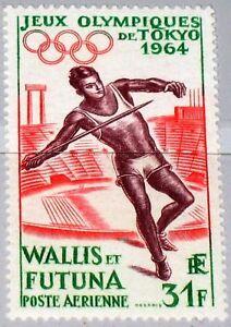 Wallis-Futuna-1964-205-c14-Olympics-Tokyo-Javelin-Spear-Throwing-Sport-MNH