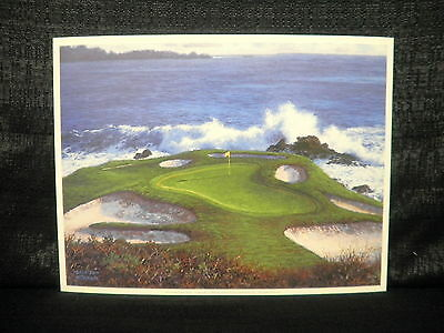 Larry Dyke Hole 7 At Pebble Beach Golf Open Edition Lithograph