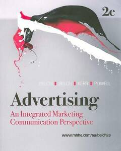 Advertising 2nd An Integrated Marketing Communication Perspective George Belch