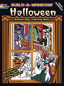 Halloween Stained Glass Window Colouring Book - Halloween Colouring Book