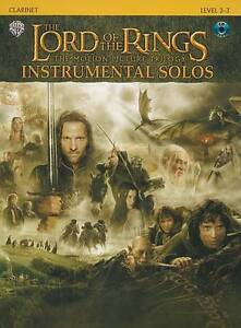 The Lord Of The Rings Trilogy Instrumental Solos Clarinet Music Book CD S115