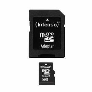Intenso microSDHC 16GB, Class 10 (12MB/s) - microSDHC Karte - Retail - (3413470)