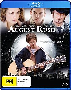 August Rush (Blu-ray, 2012) *Freddie Highnore* BRAND NEW REGION B