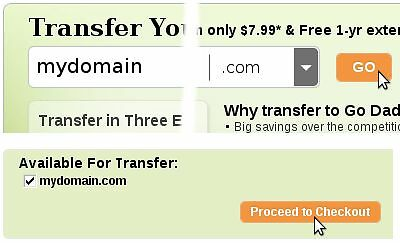 How to transfer a domain name to godaddy.com