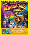 Madagascar 3: Europe's Most Wanted (Blu-ray Disc, 2012, Canadian)