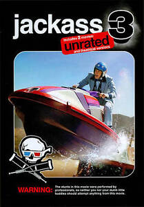 Jackass 3    *New*   (DVD, 2011, 2-Disc Set, Rated/Unrated)