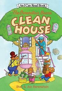 The Berenstain Bears Clean House by Stan Berenstain I CAN READ! LEVEL 1 READER
