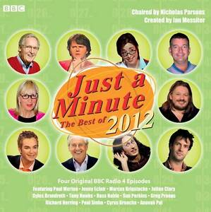JUST A MINUTE - THE BEST OF 2012 - NEW/SEALED - FOUR ORIGINAL RADIO 4 EPISODES
