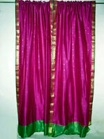 Silk Sari Curtains Drapes Panels