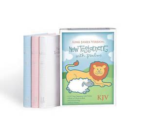 Bible-Kjv-Babys-New-Testament-Psalms-White-Imitation-Leather-by-Bible