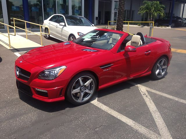 2014 mercedes benz slk55 amg 260 miles carbon fiber trim for Mercedes benz dealers tampa bay area