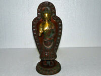 Brass Buddha Statue for Yoga Room Decor