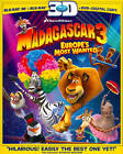 Madagascar 3: Europe's Most Wanted (Blu-ray Disc, 2012, 3-Disc Set, Includes Digital Copy; UltraViolet; 2D/3D)