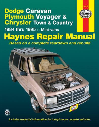 dodge caravan plymouth voyager 1984 1995 mini vans haynes. Black Bedroom Furniture Sets. Home Design Ideas