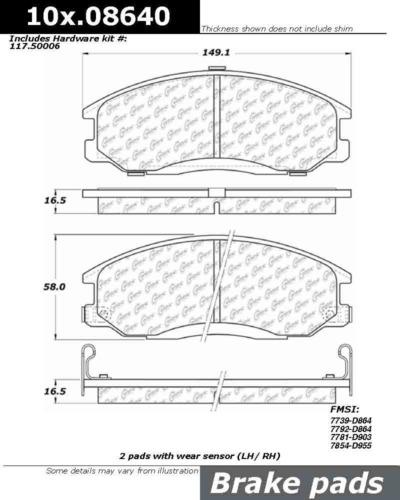 Centric-Parts-106-08640-Front-Severe-Duty-Semi-Metallic-Premium-Brake-Pad