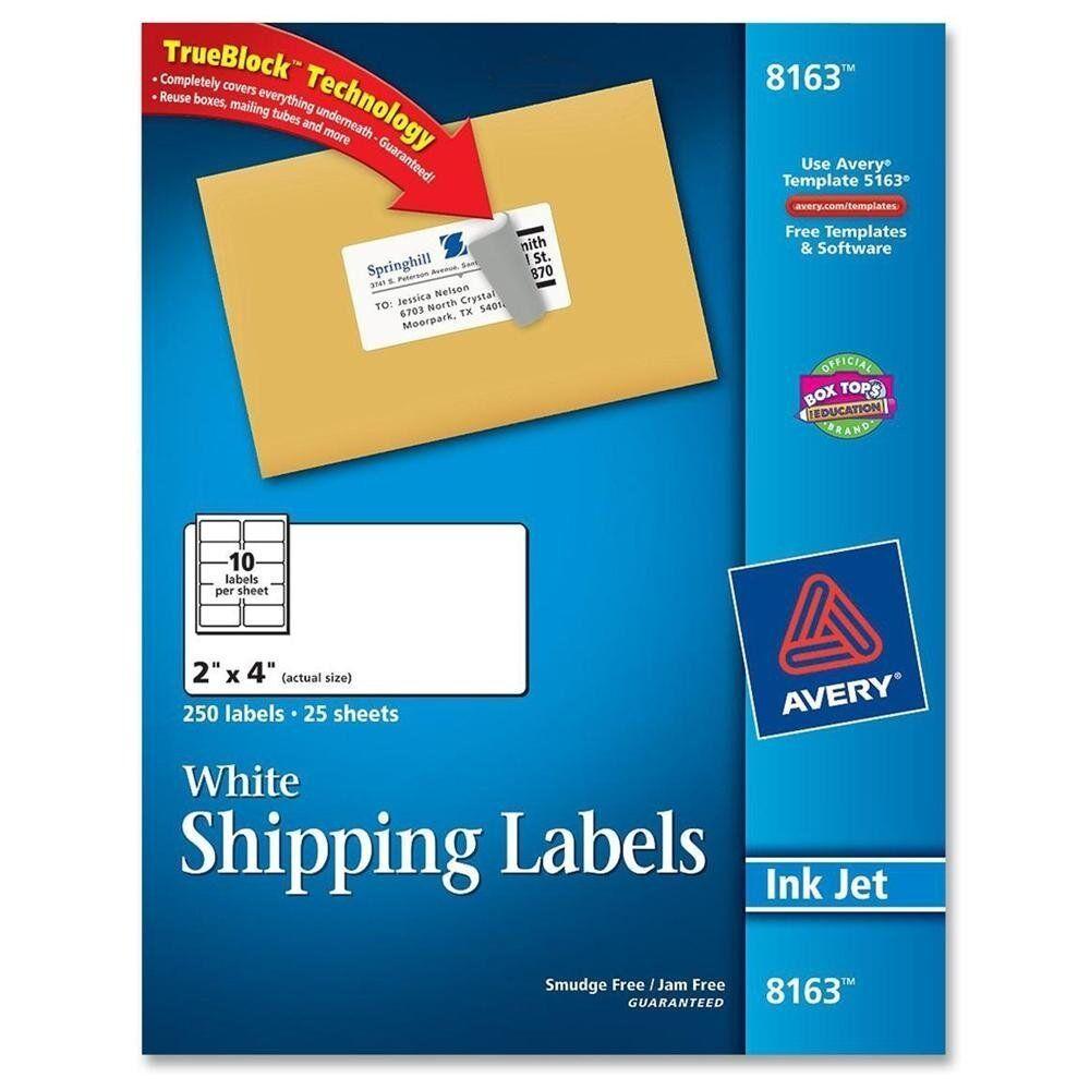 Avery Dennison 8163 Address Label Ebay