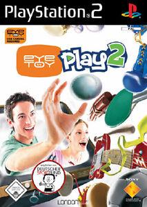 Eye Toy Play 2 mit Anleitung (PS2) - DVD wie Neu