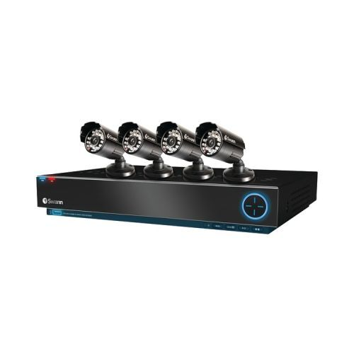 Swann TruBlue D1 3000 4-CH 500GB Hard Drive Surveillance System with Four 600 TVL Indoor/Outdoor Cameras