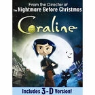 Coraline (DVD, 2009, Includes 3-D version) (DVD, 2009)