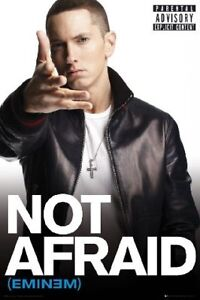 EMINEM NOT AFRAID =POSTER= Marshall Mathers Slim Shady