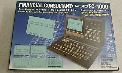 Casio Vintage FC-1000 Personal Financial Consultant Programmable Calculator