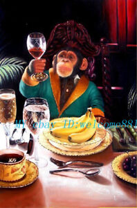 High-Quality-Modern-Art-Oil-Painting-With-Monkeys-24-x36-inch