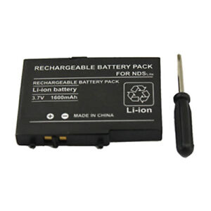 Battery 3.7V 1600mAh 1600 mAh FOR NDS DS Lite NDSL DSL