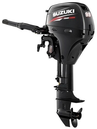 "10hp Suzuki Df9.9aes Outboard, 15"" Shaft - Electric Start - Tiller Handle - New"
