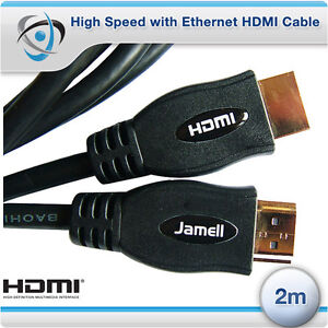 2m High Speed with Ethernet HDMI Cable v1.4 FULL HD