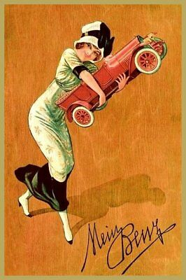 """Plakat: (Mercedes) """"Mein Benz"""", Benz & Cie. 1920 farbig"""