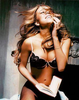 Mariah Carey Glitter Bra Lingerie 8x10 Photo Picture