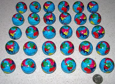 World Globes Set Of 30 Metal Colorful Mini Globes