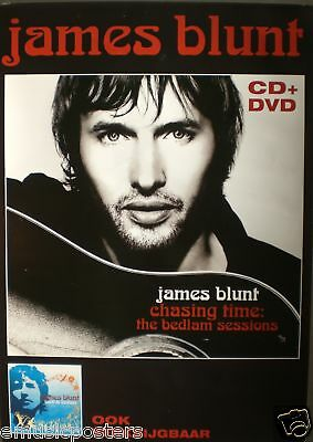 "JAMES BLUNT ""CHASING TIME: BEDLAM"" DUTCH PROMO POSTER"