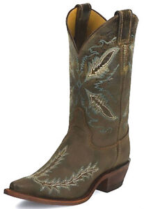 JUSTIN WESTERN USA MADE BOOTS NEW BRL 106 WOMAN 8 1/2 B