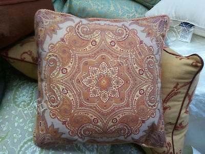 Frontgate Jewel Artisan Outdoor Sofa Chair Throw Pillow Sunset 20 Spice Roping