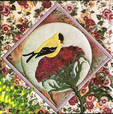 Goldfinch Applique Quilt Design Pine Meadows Designs
