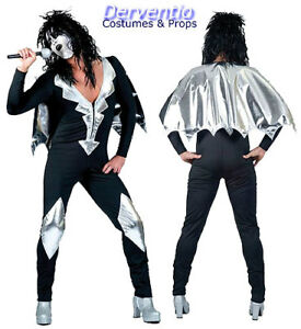 MENS 70s POP GLAM ROCK KISS ALICE FANCY DRESS COSTUME OUTFIT XL NEW