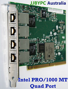 Intel-PRO-1000-MT-Gigabit-PCI-X-NIC-QUAD-port-SERVER-Adapter-Syd