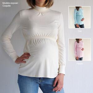 tunique de grossesse zwangerschaps tuniek maternity top t36 38 40 42 ebay. Black Bedroom Furniture Sets. Home Design Ideas