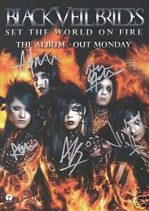 Black Veil Brides Set The World on Fire Signed Poster