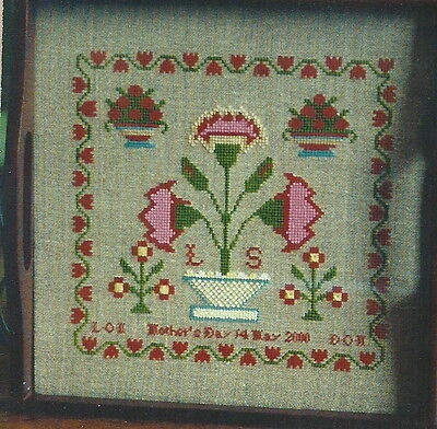Forget-me-nots In Stitches carnation Basket Pattern