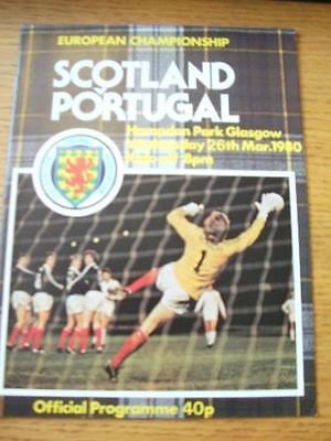26/03/1980 Scotland v Portugal [At Hampden Park] . No o