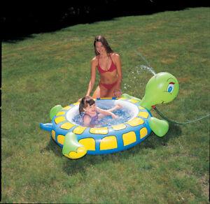 Piscina gonfiabile tartaruga gioco giardino bambino 150 x - Piscina gioco gonfiabile ...