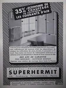 Publicit 1937 economie de chauffage avec superhermit - Economie de chauffage ...